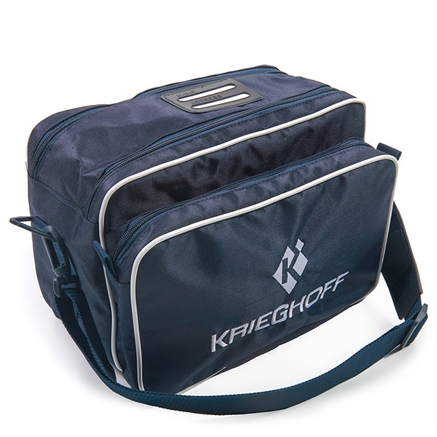 Krieghoff Cartridge Bag- Navy & White 1