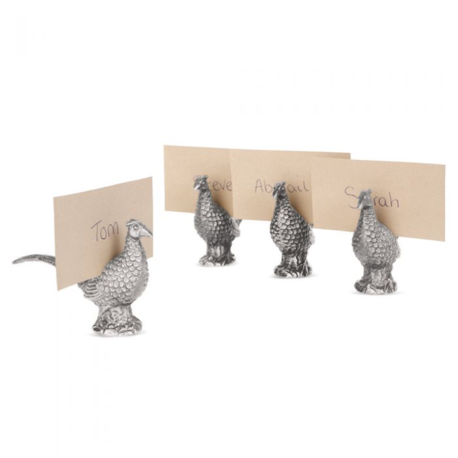 Set of 4 Pheasant Place Card 1