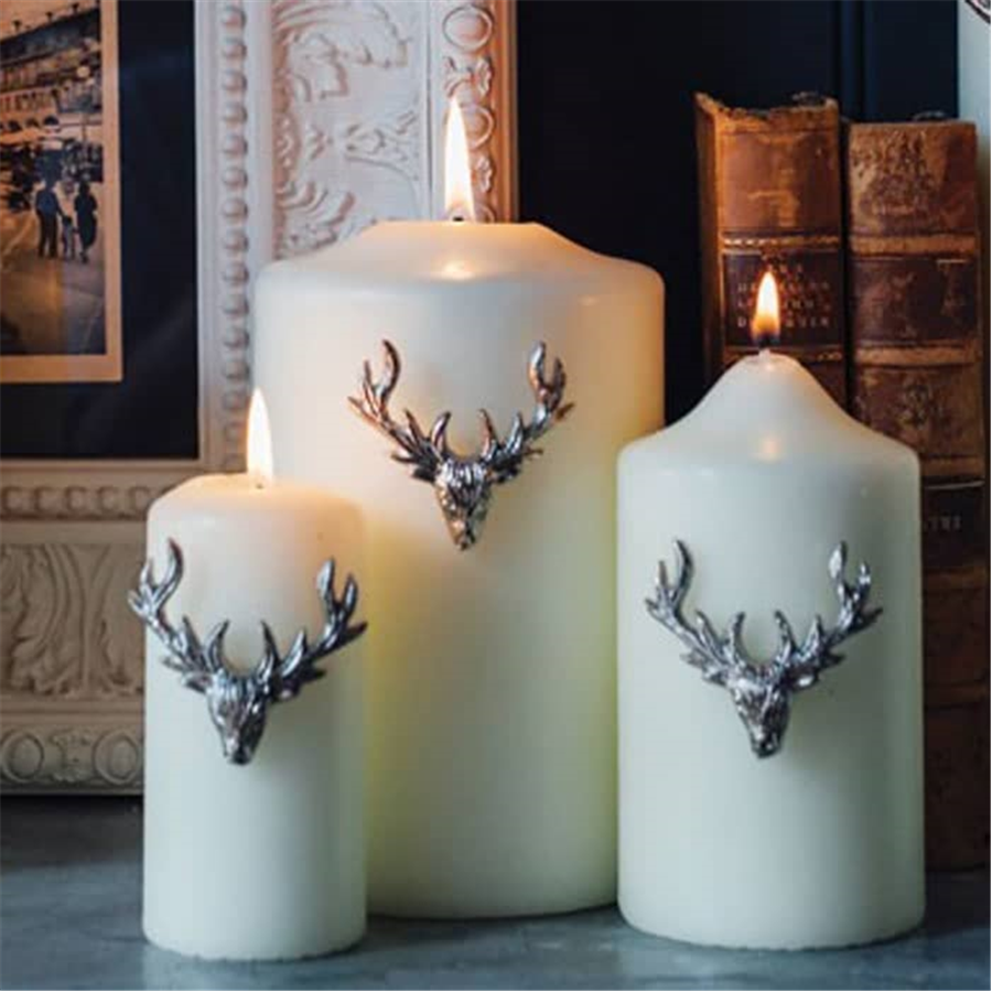 Three Small Stag Candle Pins Set 2