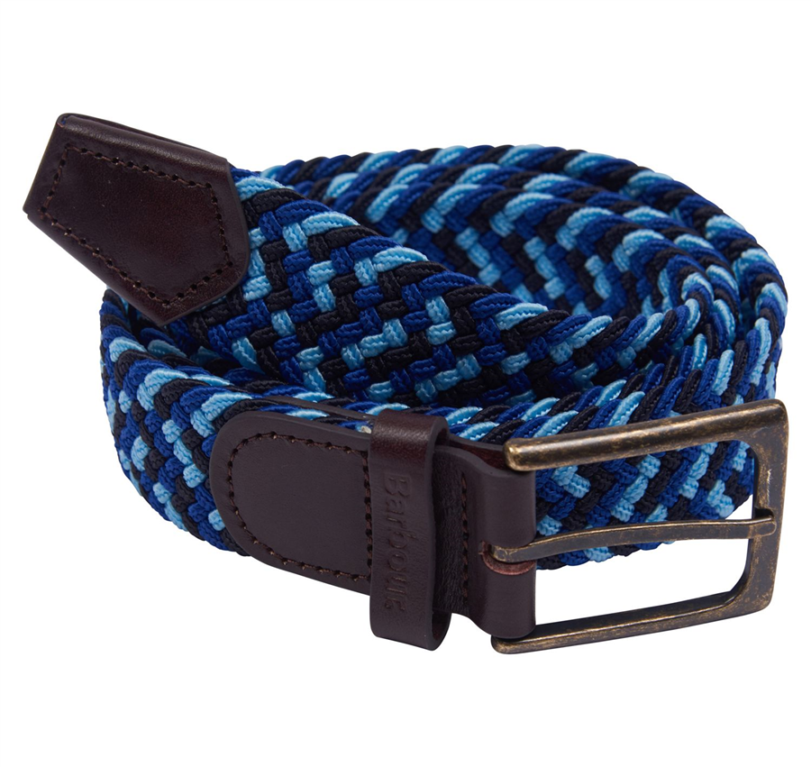 Barbour Ford Belt Navy/Blue M 1