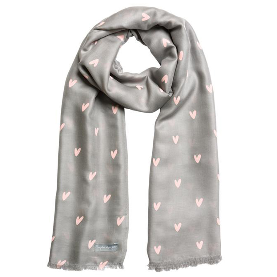 Sophie Allport Printed Scarf- Hearts 1