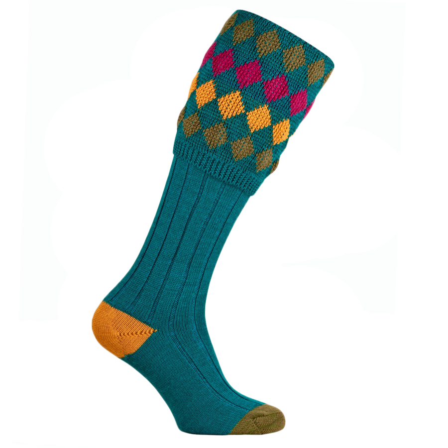 Pennine Kendal Luxe Turquoise Socks  L 1
