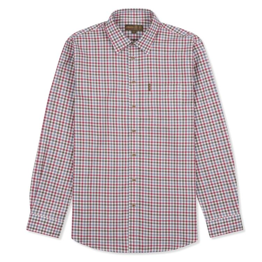 Classic Twill Shirt Carrick Berry M 1