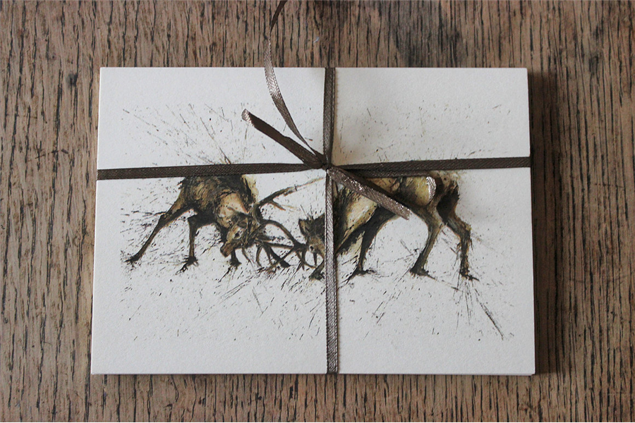 Rutting Stags Postcard Set 2