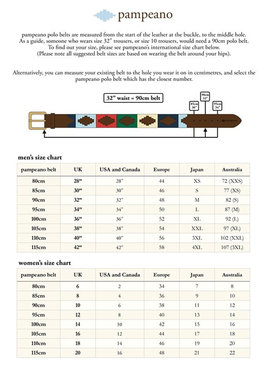 Pampeano Polo Belt - Multi 90cm/32