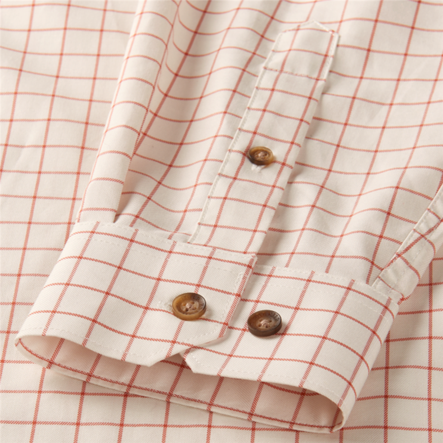 Stenstrop Shirt Burnt Orange Check M 3