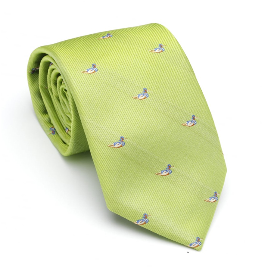 Laksen Swimming Duck Tie- Lime 1