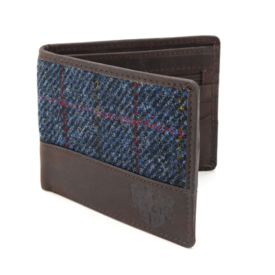 Harris Tweed Allasdale Wallet - Navy