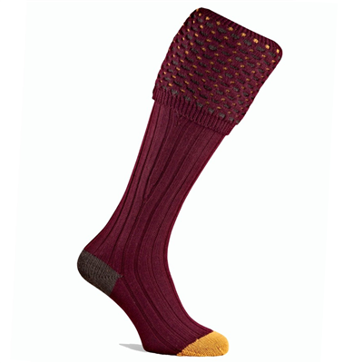 Pennine Ambassador Shooting Sock - Burgundy