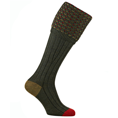 Pennine Ambassador Shooting Sock - Hunter