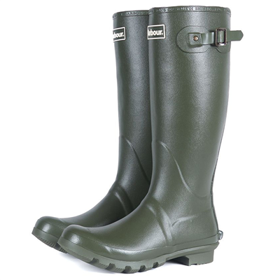 Barbour Bede Wellington Boots - Olive