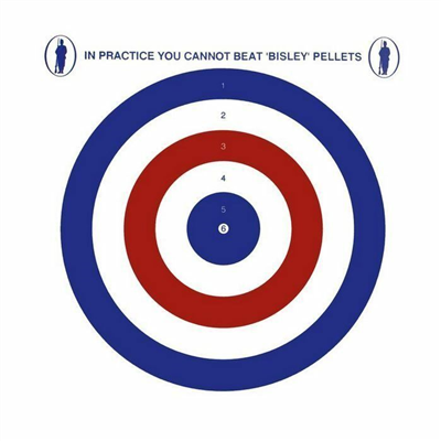 Bisley Coloured Paper Targets - 25 Pack