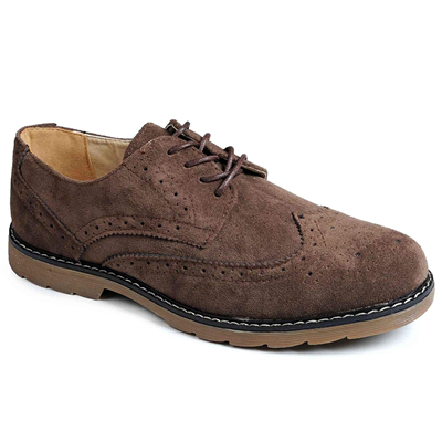 Catesby Surrey Suede Brogues- Dark Brown