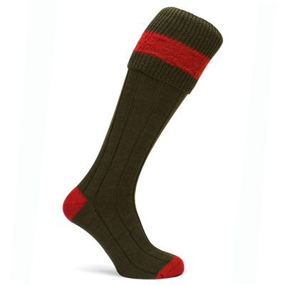 Pennine Byron Shooting Sock - Olive