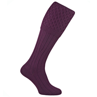 Pennine Chelsea Shooting Sock - Plum