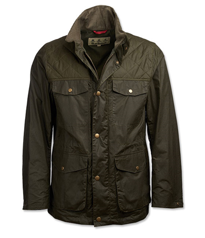 Barbour Clapham Waxed Cotton Jacket - Archive Olive