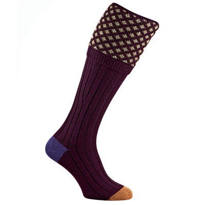 Pennine Envoy Shooting Sock - Burgundy