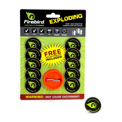 Firebird Airflash Extreme Exploding 40mm Targets - 10 Pack