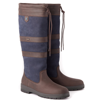 Dubarry Galway Boots - Navy & Brown