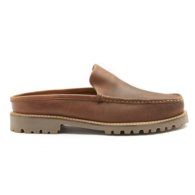 Chatham Hart Premium Leather Mules - Tan
