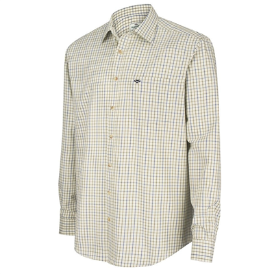 Hoggs Of Fife Inverness Shirt - Navy & Olive