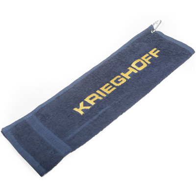 Krieghoff Shooting Towel - Navy & Yellow