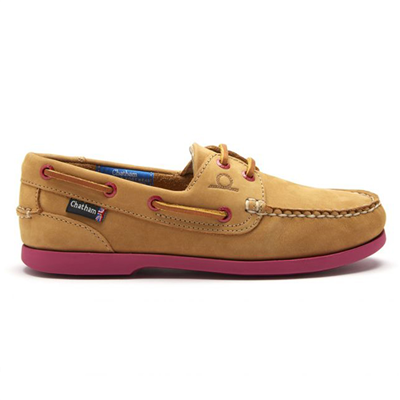 Chatham Ladies Pippa II G2 Deck Shoe - Tan/Pink