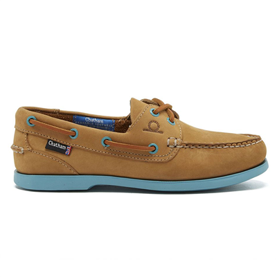 Chatham Ladies Pippa II G2 Deck Shoe - Tan/Turquoise