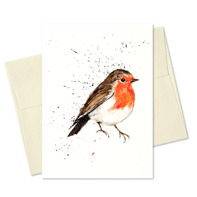 Clare Brownlow Greetings Card - Robin