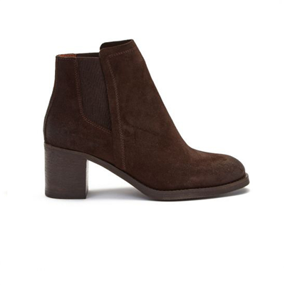 Chatham Ladies Savannah Suede Chelsea Boots - Dark Brown