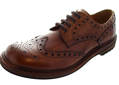 Catesby Leather Brogues With Commando Sole- Rich Brown
