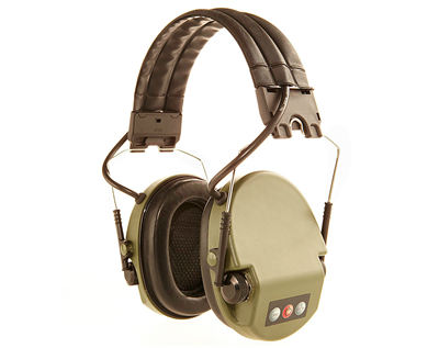 Silenta Milcom Natural Earmuffs- Green