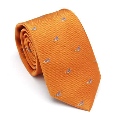 Laksen Swimming Duck Tie - Orange