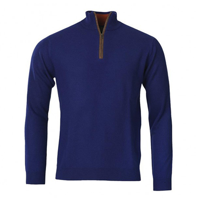 Laksen Grouse Collection 2019 Zip Neck Knit - Royal Blue