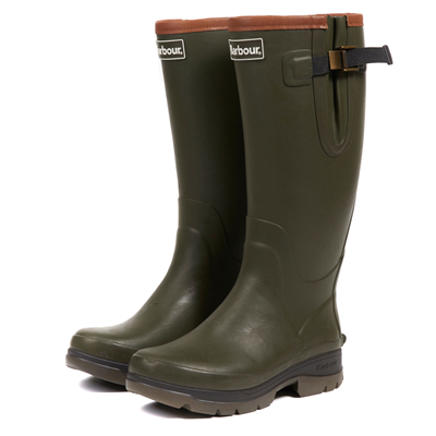 Barbour Tempest Wellington Boots - Olive