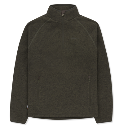 Musto Super Warm Windjammer Half Zip Fleece - Forest Green