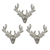 Three Small Stag Candle Pins Set 1
